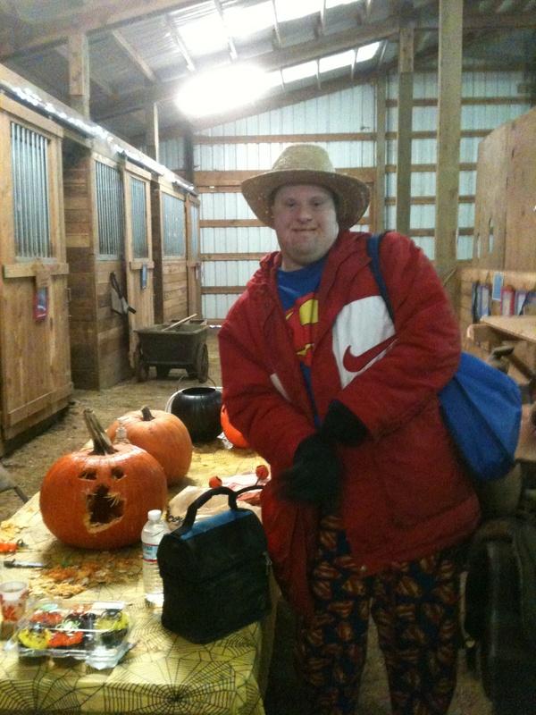 fall pumpkin carving and riding camp